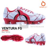 ORTUSEIGHT VENTURA FG ORIGINAL TERMURAH Sepatu Bola - WhiteRedBlack, 39