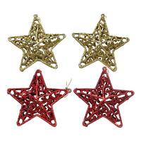 Gantungan Aksesoris Dekorasi Ornamen Pohon Natal Bintang Ukir isi 2