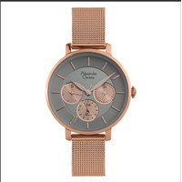 Alexandre Christie Passion AC 2870 BF BRGGR Ladies Grey Dial Rose Gold