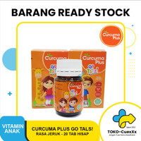 Curcuma Plus Go Talz! isi 20 Tab Hisap Multivitamin Anak Minyak Ikan