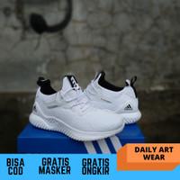 sepatu adidas alphabounce beyond white running sport made in vietnam
