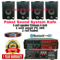 Paket Sound System Kafe Crimson 4 inch CR 402 ( 4 unit )