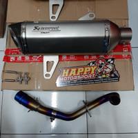 Knalpot Fullsystem Akrapovic Replika TMAX utk Yamaha XMAX 250 titanium