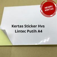 Kertas Stiker Sticker HVS Lintec Putih A4