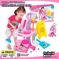 Mainan Anak Perempuan Alat Kebersihan Cleaning Mini Car Set SNI