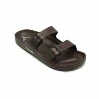 PANAMA sandal   Torso TMNS05 Brown   Sandal Slop Cowok Sandal Karet - 40