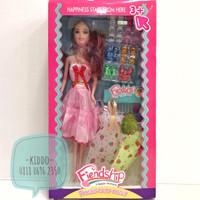 Mainan anak perempuan - barbie dan koleksi sepatu Barbie - WNS2