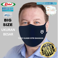 Masker Kain Dewasa Jumbo Big Size Rider Anti Virus 3 Tiga Lapis Protec