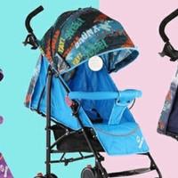 Pacific Stroller Spacebaby 5012 Kereta Dorong/stoller baby sapcebaby - Graffiti Blue