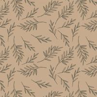 Kertas Kado Harvest / Wrapping Paper Brown Craft - Leaves
