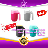 Elephant Thermal Suction Mug - Gelas Termos Hot & Cool - 400ml 0621