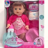 Mainan boneka baby bunyi dan bayi bisa pipis - Q