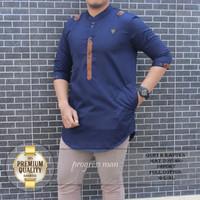 Gamis dewasa laki laki / Fashion Muslim / Pakaian Muslim Pria / Gamis - Biru