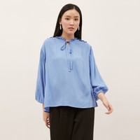 NONA Frilly Top Azure Blue
