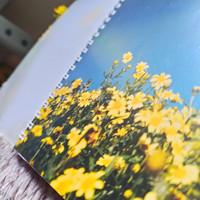 spiral Book A5 - cover tebal isi 100 halaman - Gambar Cover Jernih - langit biru, garis