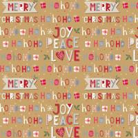 Kertas Kado Natal Harvest / Wrapping Paper Xmas Joyland Brown