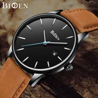 BIDEN jam tangan pria Santai Mode Bisnis Tahan Air Kuarsa Jam Tangan
