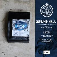 Biji Kopi Arabika GUNUNG HALU Black Honey 100 gr - Roasted - Whole Beans