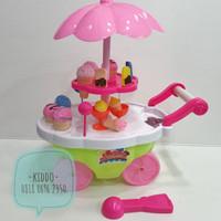 Mainan gerobak es krim dan lolipop - ice cream and candy cart - WS