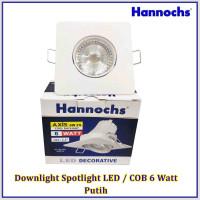 Downlight Spotlight LED / COB 6 Watt Putih/Kuning Kotak HANNOCHS AXIS