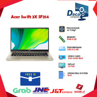 Laptop Acer Swift 3X SF314 i5 1135g7 8gb 512ssd IrisXE MAX 14 FHD