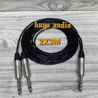 KABEL AUDIO CANARE KECIL AKAI STEREO 6.5MM TO AKAI MONO 6.5MM(2X3M)