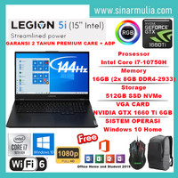LENOVO LEGION 5i Core i7-10750H 16GB 512GB GTX1660Ti 6GB 144Hz Win10