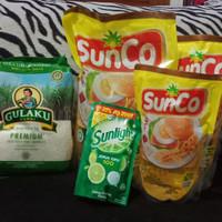 paket sembako minyak dan gula