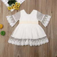 dress laura lace white anak perempuan