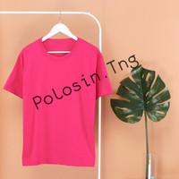 Kaos Polos Pink (Cotton Combed 30's) - S