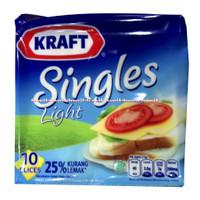 Kraft Singles Light 10Slice Keju Lembaran Kraft 25% Kurang Lemak