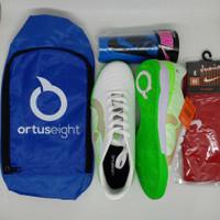 Paket Komplit Sepatu Futsal Ortuseight Terbaru - Kuning, 38