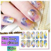 nail sticker glitter honeycomb miss glitters