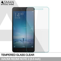 Tempered Glass Xiaomi Redmi Note 2 (5.5) | Anti Gores Kaca - Bening