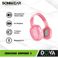 Headset Bluetoth SonicGear Airphone 3 Wireless Headphone