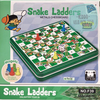 Ular tangga snake ladder magnet - ular tangga papan magnet box- W