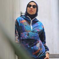 Jaket Olahraga Motif, Fitflo Activewear, Organic Cotton, Blue Abadi