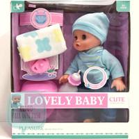 Mainan boneka baby bunyi dan bayi bisa pipis - BNS