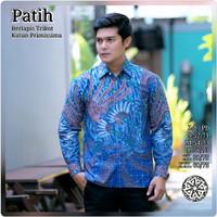 Baju Batik Tulis Pria Lengan Panjang Terbaru / Kemeja Batik Premium - S