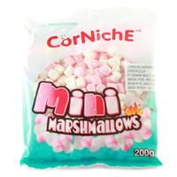 CORNICHE Mini Marshmallows 200g - Marshmalow Kecil Warna Putih Pink
