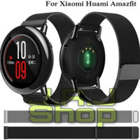 MILANESE STRAP TALI JAM XIAOMI HUAMI AMAZFIT PACE 1 2 MAGNET STAINLESS