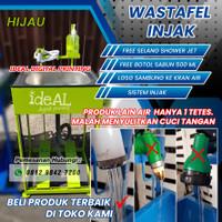 Wastafel washtafel / tempat cuci tangan portable injak pedal anticovid