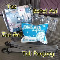 Cooler Bag Momza Free Ice Gel + Botol Asi Kaca