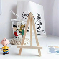 Standing Easel mini Dudukan kanvas mini tripod hp kayu wooden tripod