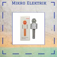 Microphone Original Polaris Bluetooth Wireless Karaoke PL-858 Silver