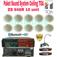 Paket Sound System Ceiling TOA ZS 646R ( 10 unit )