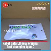 kabel data charger LG, G6 V20 G5 new original 100% fastcharging type C - Putih
