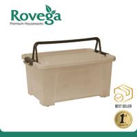 Rovega Kotak Kontainer Plastik Premium dengan 4 Roda 35 Liter WCB & CB