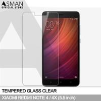 Tempered Glass Xiaomi Redmi Note 4 (5.5) | Anti Gores Kaca - Bening