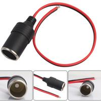kabel socket mobil 12v terminal konektor steker pemantik aki adaptor